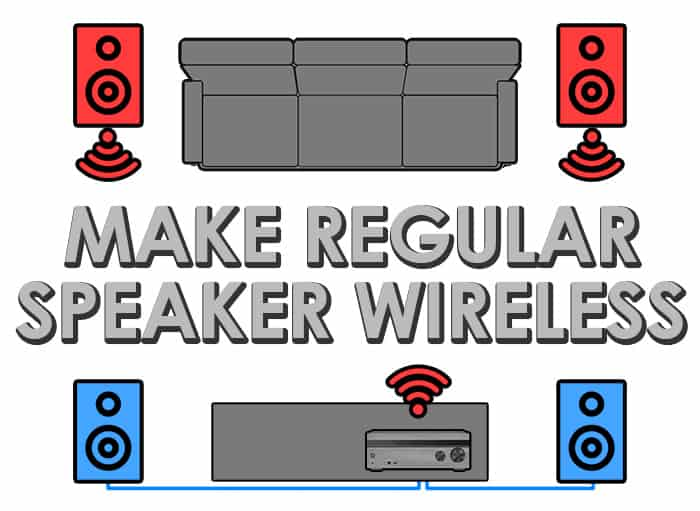 How to Make Regular Speakers Wireless in 4 Simple Steps! Wiring For Surround Sound on