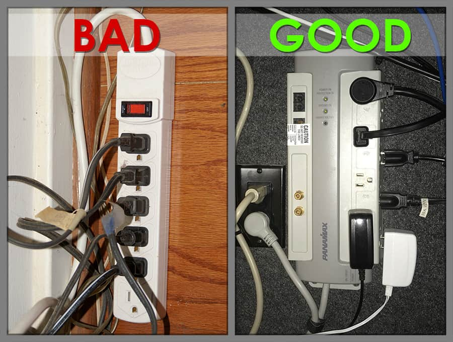 Protect Home Theater Equipment with Surge Protectors not Power Strips