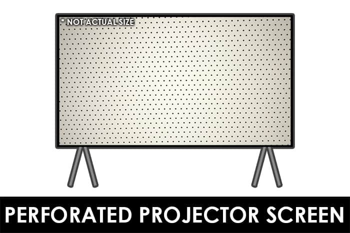 Perforated Projector Screen - Acoustically Transparent Screen