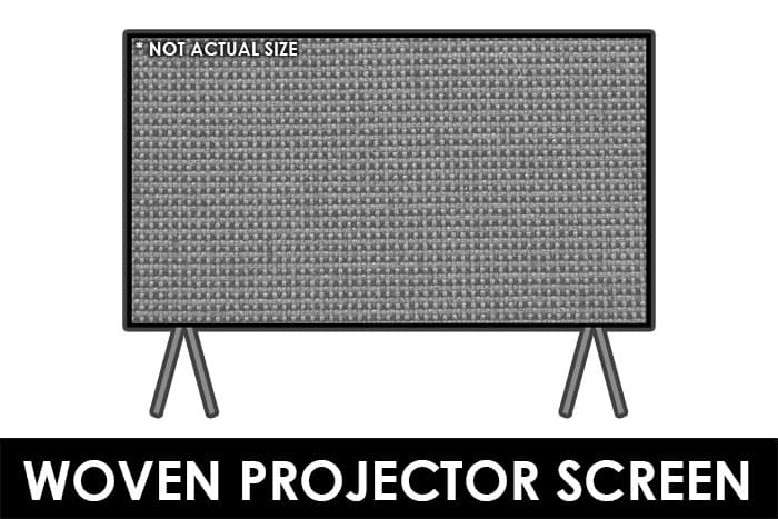 Woven Projector Screen - Acoustically Transparent Screen