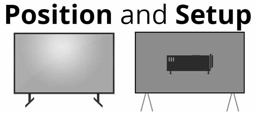 Projector vs TV - Position and Setup - Smaller