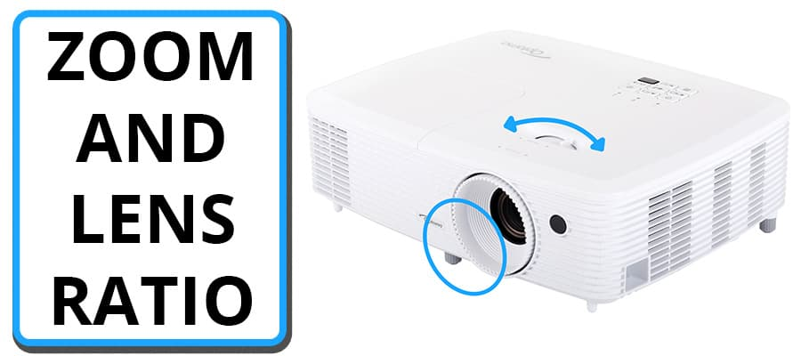 Projector Specs - Zoom and Lens Ratio - Smaller