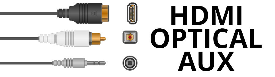 HDMI, Optical, and Aux - Smaller