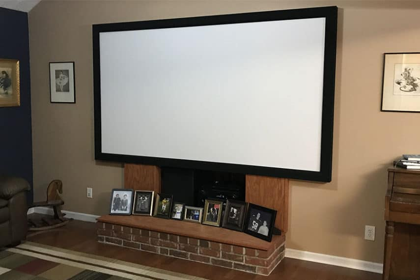 Home Theater in a Living Room
