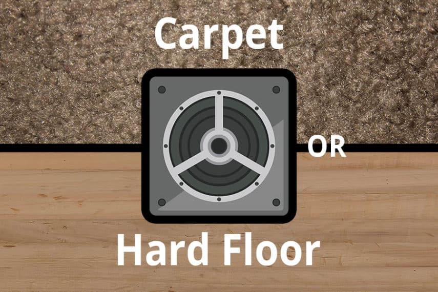 Subwoofer on carpet or hard flooring