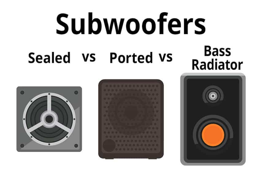 Subwoofers - Sealed vs Ported vs Bass Radiator