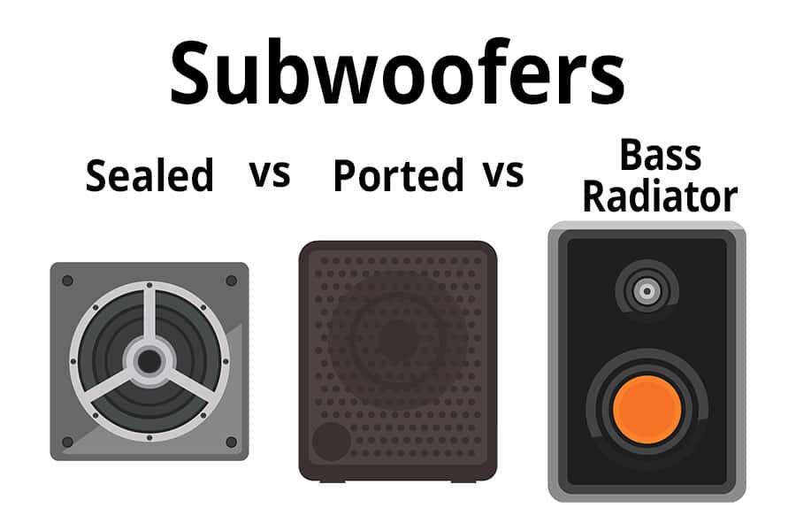 Subwoofers - Sealed vs Ported vs Bass Radiator