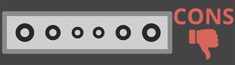 Soundbar Cons