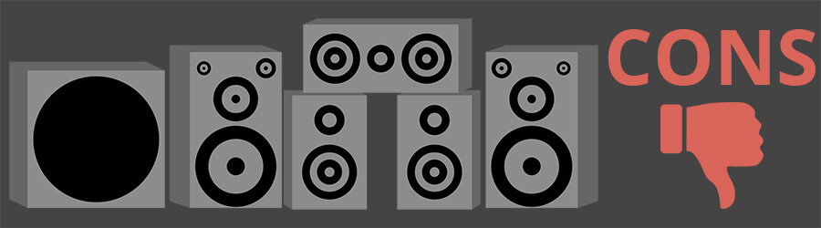 Surround Sound Speaker System Cons