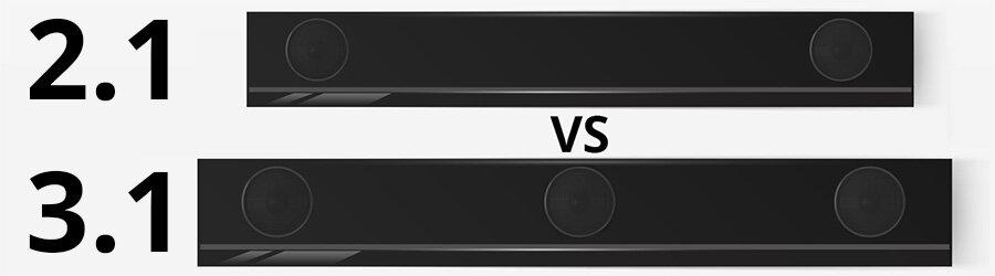 2.1 vs 3.1 Soundbar - Smaller