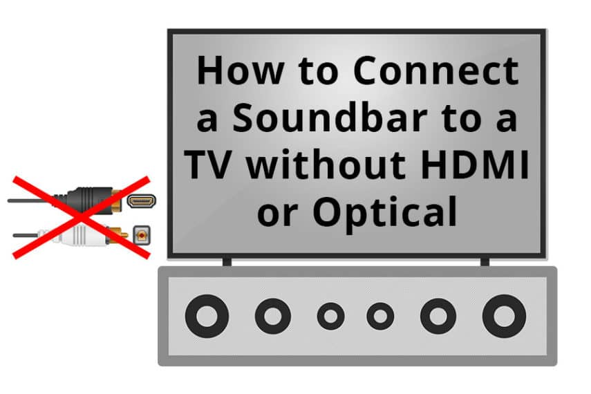 How to Connect a Soundbar to a TV without HDMI or Optical