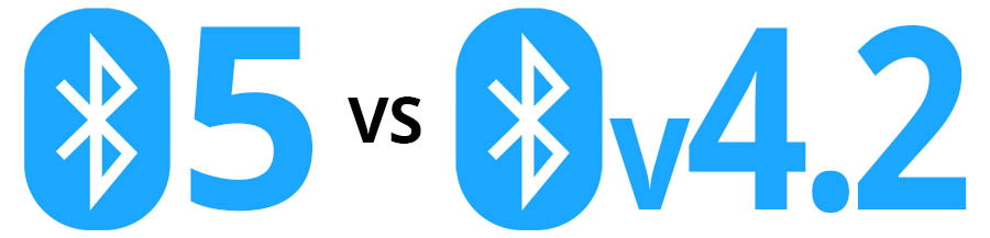 Bluetooth 5 vs Bluetooth v4.2 - Smaller