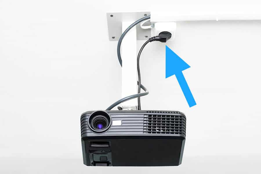 How to Run Power to a Ceiling Mounted Projector - Featured Image - Smaller