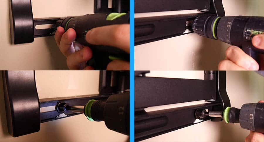 How to Mount a TV - Step 10 - 3rd and 4th Holes for Mount