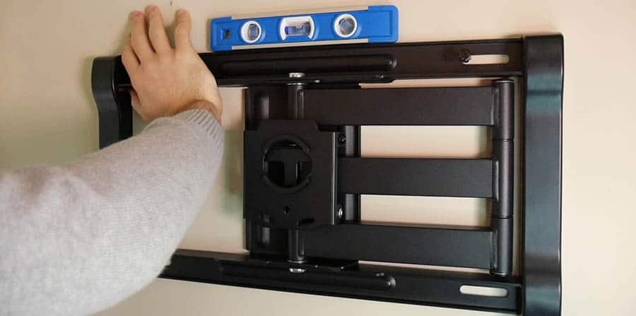 How to Mount a TV - Step 8 - Make Sure the Mount is Level and Attach it to the Wall