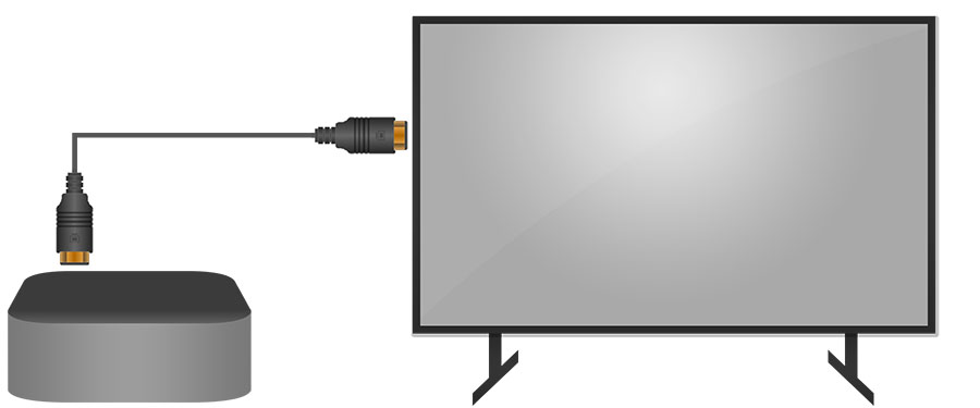 AppleTV Connected to a TV - Smaller