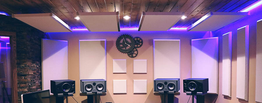 Acoustic Panels in Recording Studio