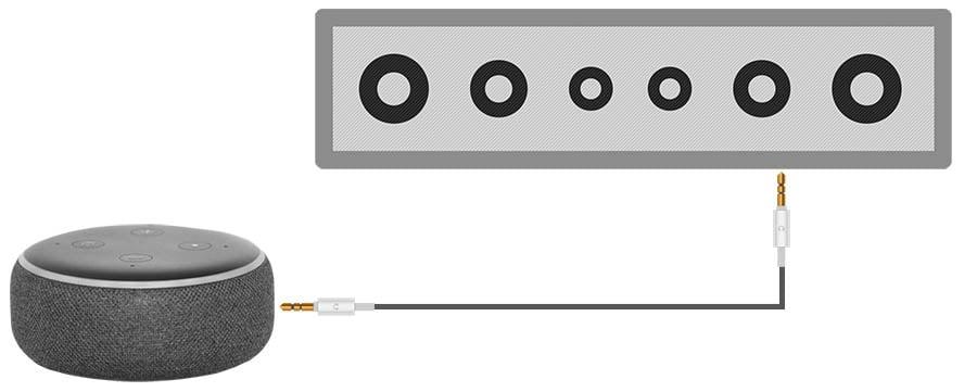 Connect an Echo Dot to a Soundbar via AUX Cable - Smaller