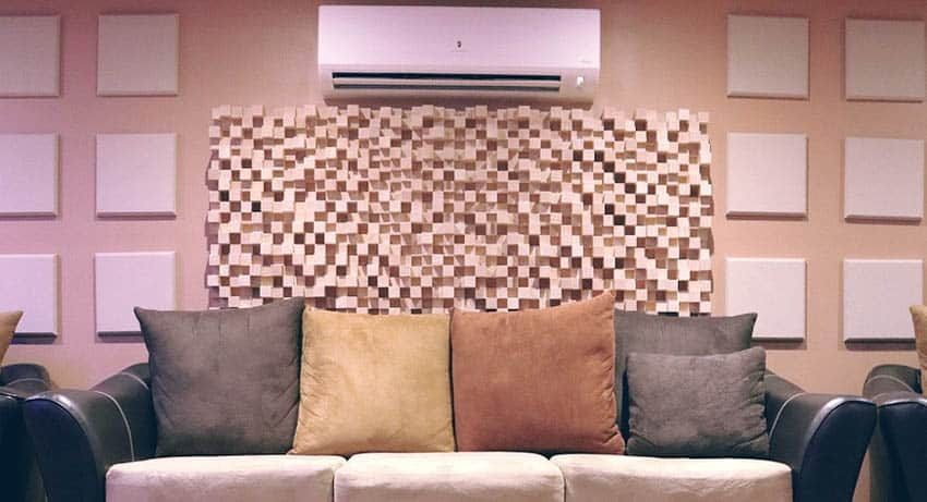 Couch with Acoustic Panels - Smaller