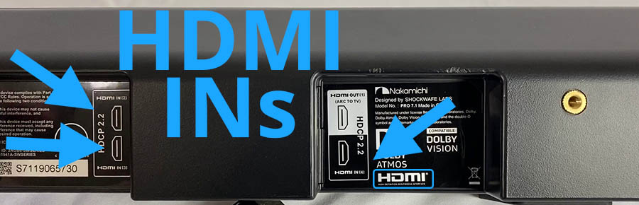 Soundbar HDMI Inputs - Smaller
