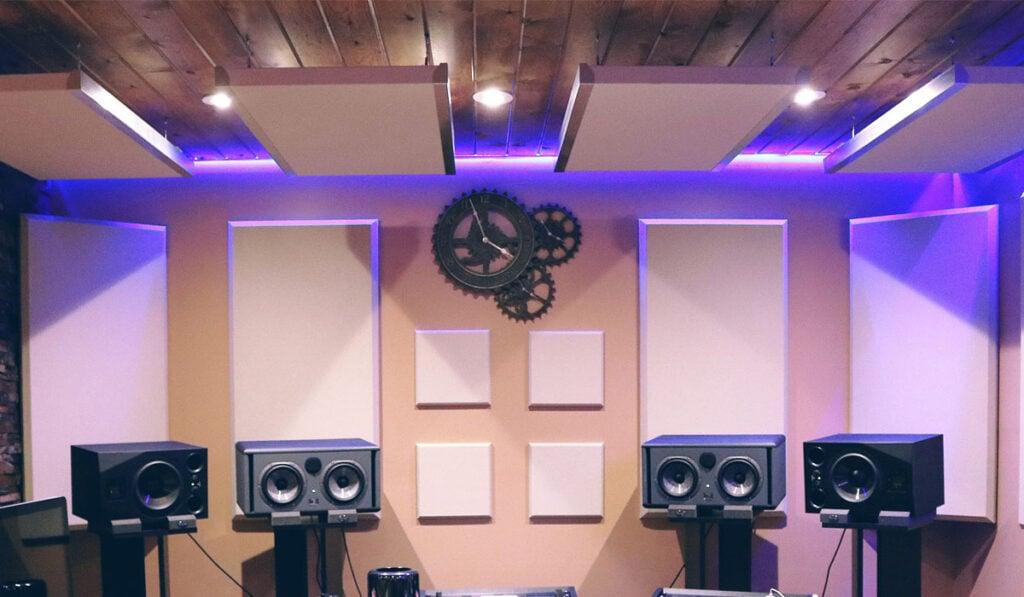 Acoustic Panels in Recording Studio
