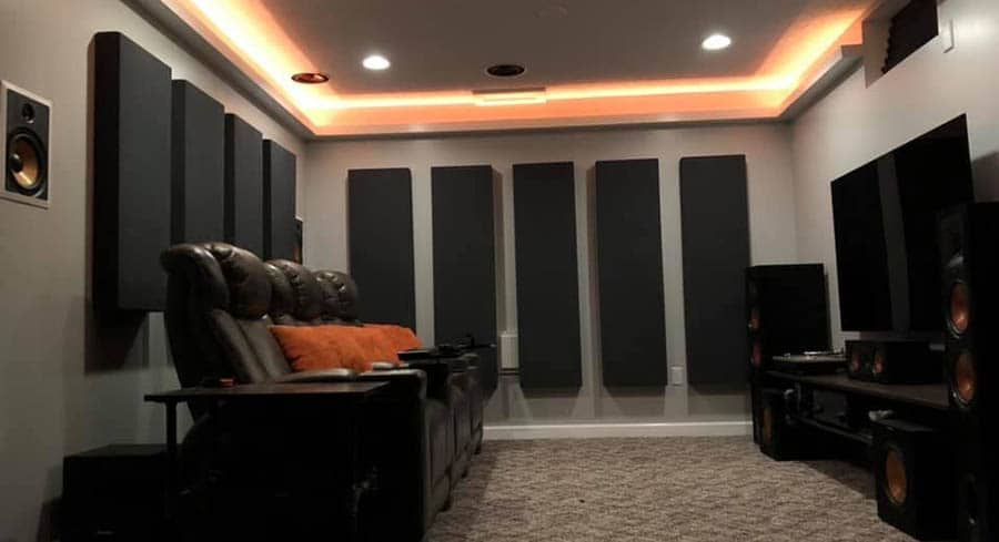 Large Acoustic Panels in a Home Theater Room 1 - Smaller 1