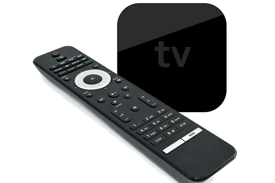 Universal remote controller and an Apple TV