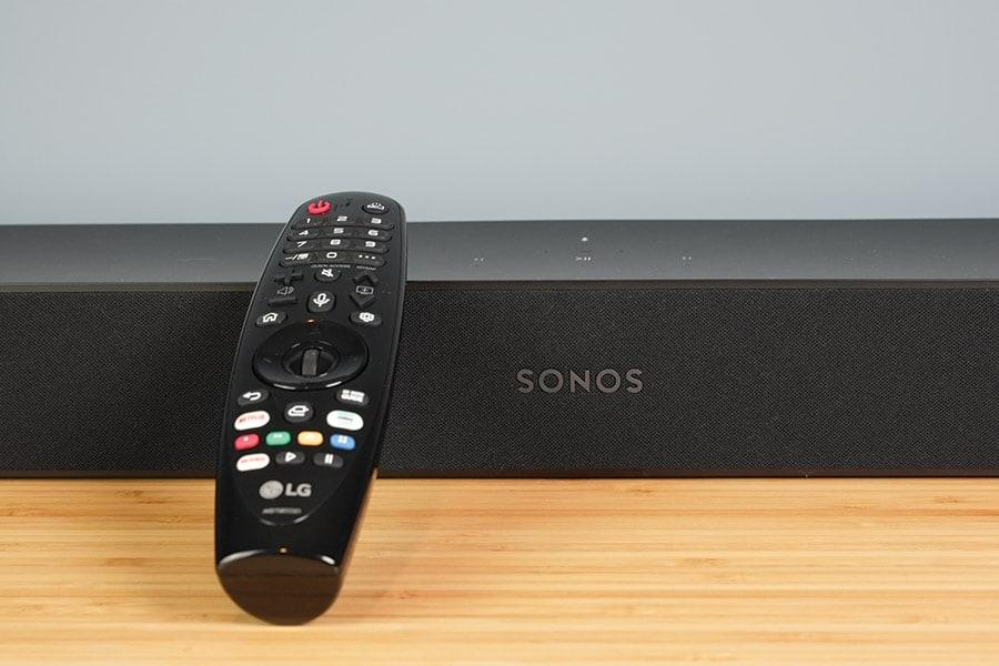 LG Remote Control and Sonos Beam Soundbar