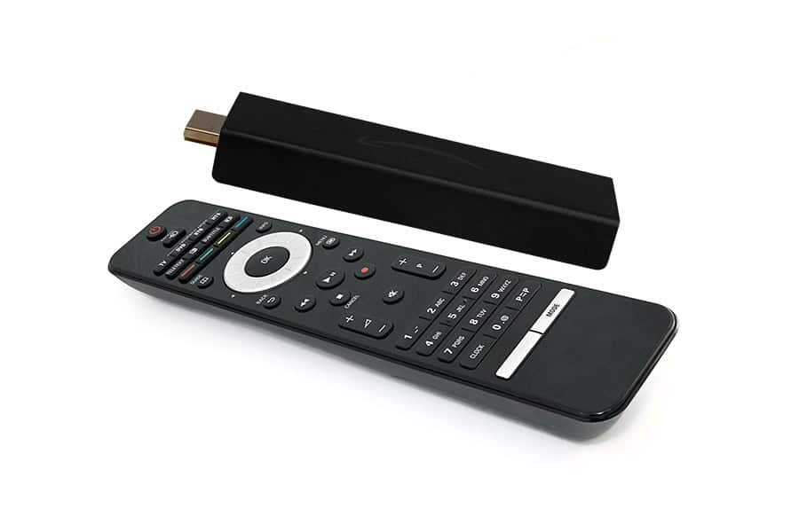 Universal remote control and fire TV stick together